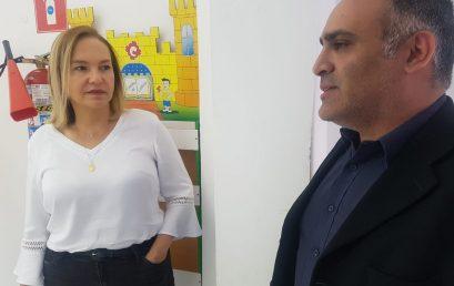 Dirigente de ensino e diretor da Unibr fazem reunião sobre parceria