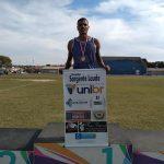 Atleta da Unibr vence prova e quebra recorde